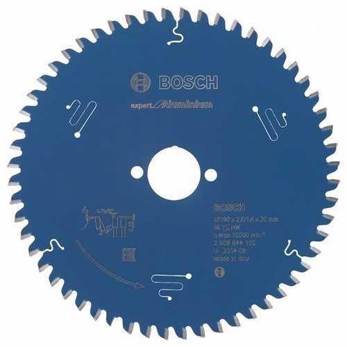 BOSCH 2608644102 Kreissägeblatt Expert for Aluminium Außen-D.190mm Bohrung 30mm