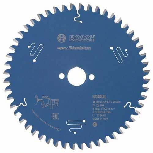 BOSCH 2608644094 Kreissägeblatt Expert for Aluminium Außen-D.160mm Bohrung 20mm