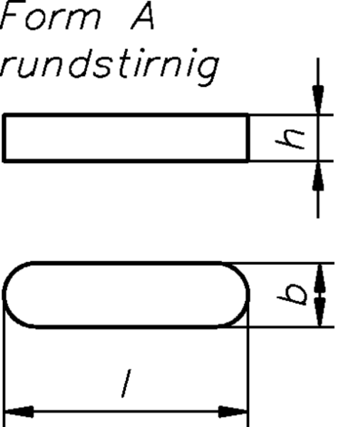 Dresselh. 4001796301537 16 x 100 Passfedern Form AHöhe 10 mm