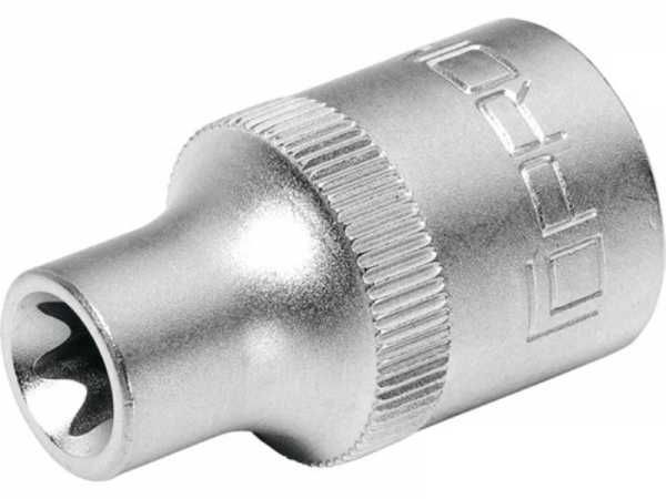 PROMAT Steckschlüsseleinsatz 1/2 Zoll E E20 Länge 38 mm