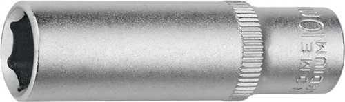 PROMAT Tiefbett-Steckschlüsseleinsatz 1/4 Zoll 6-kant, lang Schlüsselweite 10