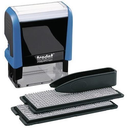 trodat Textstempel Typo Printy 43145 47x18mm schwarz/blau