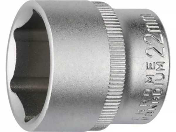 PROMAT Steckschlüsseleinsatz 3/8 Zoll 6-kant Schlüsselweite 22 mm Länge 30 mm