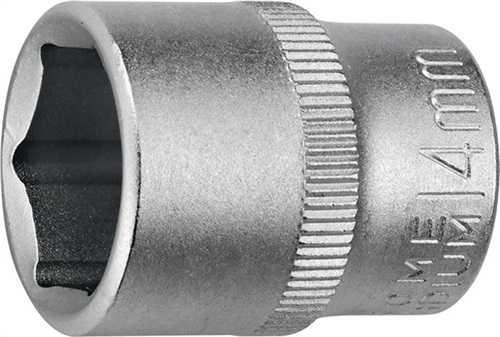 PROMAT Steckschlüsseleinsatz 1/4 Zoll 6-kant Schlüsselweite 6 mm Länge 25 mm