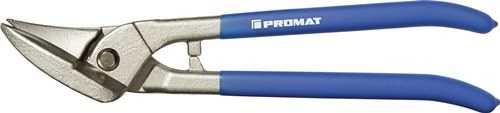 PROMAT Idealblechschere Länge 260 mm links Stahl max. 0,8 mm Edelstahl max. 0,