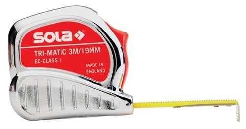 SOLA 50023401 Taschenrollbandmaß TRI-MATIC Länge 8 m Breite 25 mm mm/cm EG I Kun