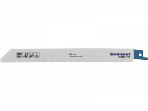 5 Stk Säbelsägeblatt Länge 200 mm Breite 19 mm Zahnteilung TPI 14 1,8 mm gefr