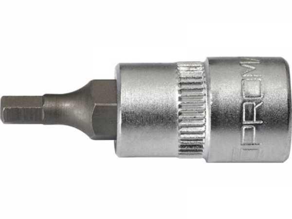 PROMAT Steckschlüsseleinsatz 1/4 Zoll 6-kant Schlüsselweite 8 mm Länge 32 mm