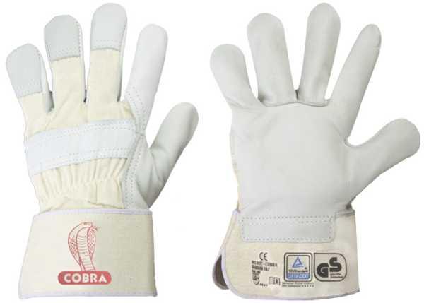 CALCUTTA STRONGHAND® Gr.10,5 Handschuhe, RindVollleder, Weiß, CAT 2,