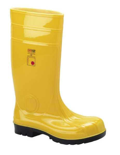 EUROFORT, Baustiefel, Eurofort, EN ISO 20345 S5, ca. 38 cm hoch, Gelb, Gr.43