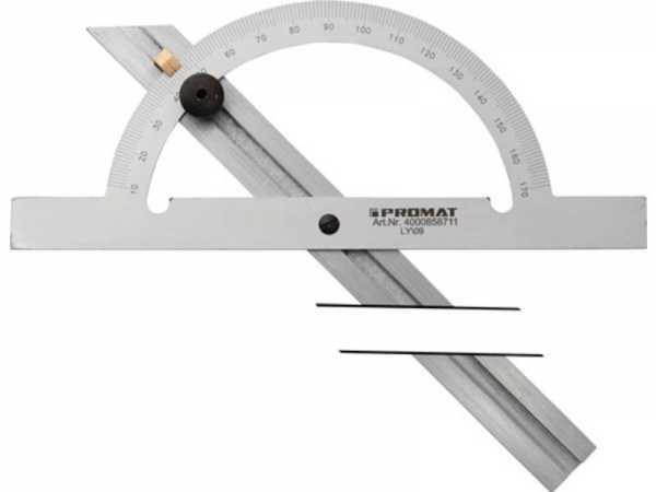 PROMAT Winkelmesser Gradbogen-D. 200 mm Schienenlänge 400 mm