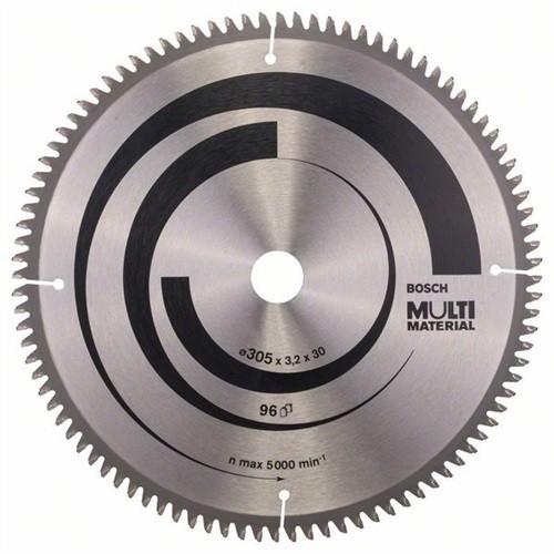 BOSCH Multi Material Kreissägeblatt Außen-D.305mm Bohrung 30mm 96Zähne Schnitt-
