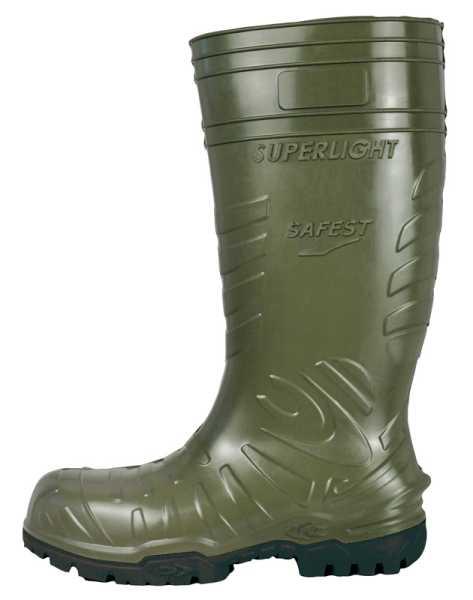 ANZI  PU Stiefel W12 COFRA Grün/Schwarz  EN ISO 20345:2011 S5 CI SRC, Gr.47
