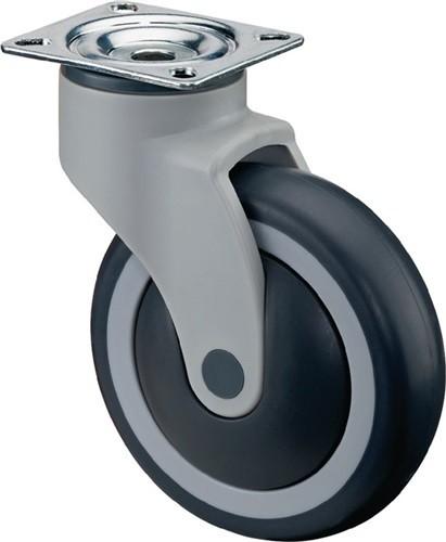 BS C100.A82.100 Kunststoffrolle Rad-D. 100 mm Tragfähigkeit 100 kg mit Anschraub
