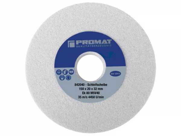 PROMAT Schleifbockscheibe D.125xB20x32mm fein 80 Form A Aluminiumoxid