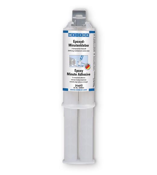 WEICON 10550024 Epoxyd-Minutenkleber 24 ml, Zwillingsspritze OHNE Mischdüse