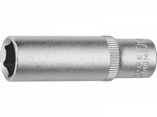 PROMAT Tiefbett-Steckschlüsseleinsatz 1/4 Zoll 6-kant, lang Schlüsselweite 6 m