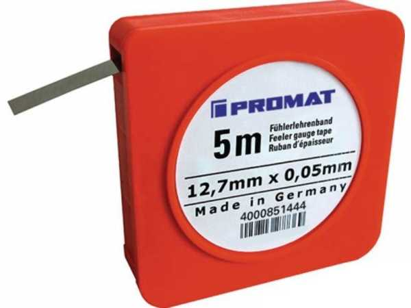 PROMAT Fühlerlehrenband Stärke 0,50 mm Länge 5 m Breite 12,7 mm