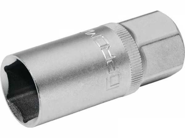 PROMAT Steckschlüsseleinsatz für Zündkerzen 1/2 Zoll SW 21 mm 6-Kant Länge