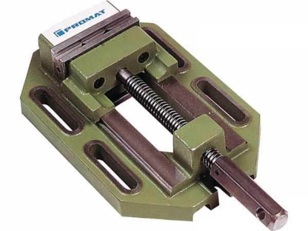 PROMAT Bohrmaschinenschraubstock Backenbreite 100 mm Spannweite 115 mm