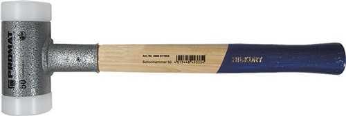 PROMAT Schonhammer Gesamtlänge 370 mm Kopf-D. 60 mm Hickory rückschlagfrei har