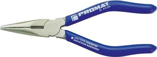 PROMAT Radiozange DIN ISO 5745 Länge 145 mm flach/rund gerade poliert Kunststof