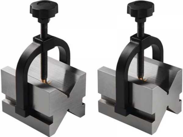 PROMAT Doppelprismenpaar für D. 5-50 mm Stahl L75xB55xH55mm Toleranz ± 0,004 m