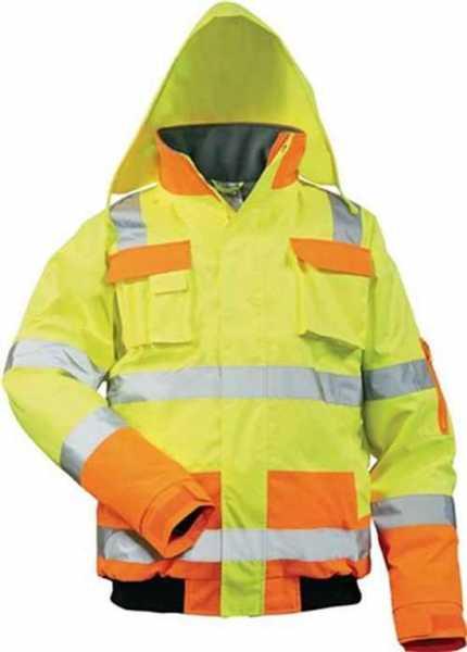 FELDTMANN 23554-3 Warnschutz-Pilotenjacke Mats Gr.XL gelb/orange