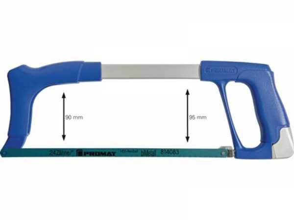 PROMAT Metallsägebogen Blattlänge 300 mm 24 Zähne / Zoll D- und Frontgriff
