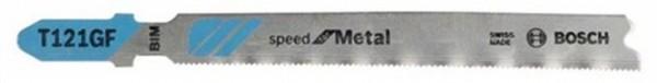 BOSCH T 121 GF Speed for Metal Stichsägeblatt 5er Pck L.92mm Zahnteilung 0,8mm
