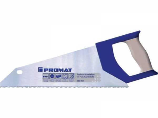 PROMAT Handsäge Blattlänge 350 mm 12 Zähne per Zoll feine Spezialzahnung