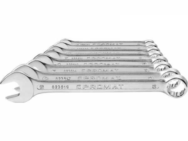 PROMAT Ringmaulschlüsselsatz 12 teilig Schlüsselweite 10-32 mm Form A CV-Stah