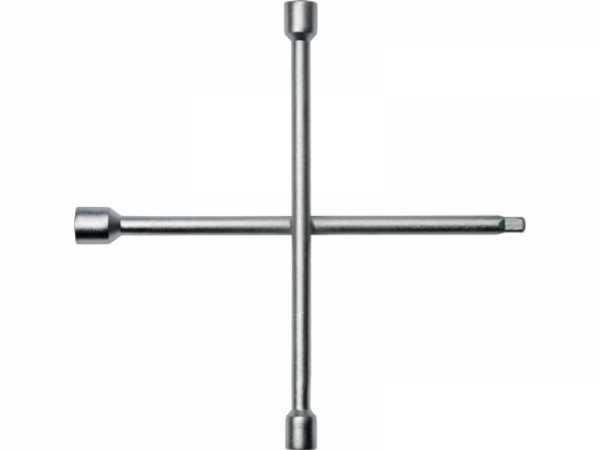 PROMAT Kreuzschlüssel 17 x 19 x 22 x 12,5(1/2Zoll 4-kant) L350 mmxB350mm