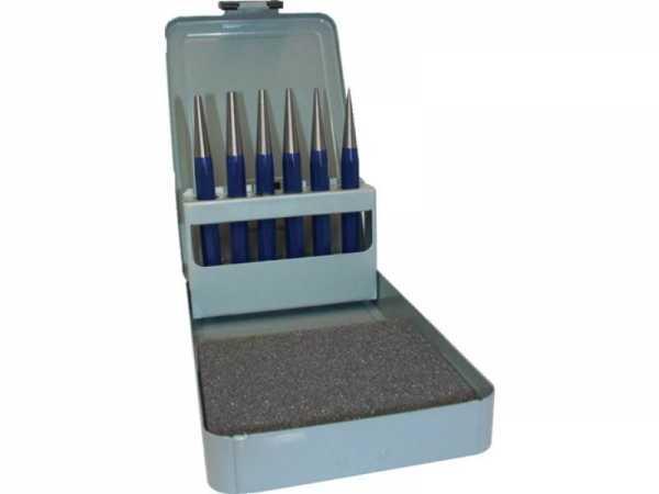 PROMAT Durchtreibersatz 6 teilig 1-2-3-4-5 + Körner-D. 4 mm Metallkassette