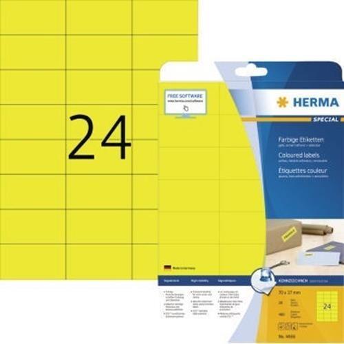 HERMA Etikett SPECIAL 4466 70x37mm gelb 480 St./Pack.