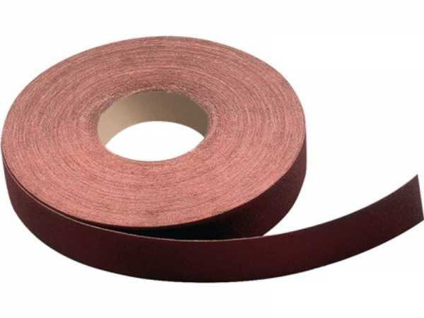 PROMAT Schleifgeweberolle 40 mm Körnung 220 für Metall Korund