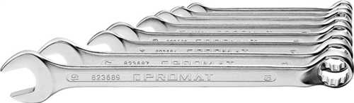 PROMAT Ringmaulschlüsselsatz 12-teilig Schlüsselweite 10-32 mm Form B CV-Stah