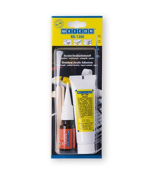 WEICON 10560060 RK-1300 Konstruktions- Klebstoff + Aktivator 60 g